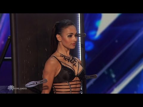 Americas Got Talent 2016 Alfred & Anna Silve Sexy Knife Throwing Act Full Audition Clip S11E04