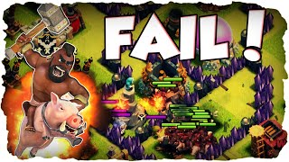 Max Hog Rider FAIL! | CLASH OF CLANS | Mauern to Max 67/225! (Deutsch / German)