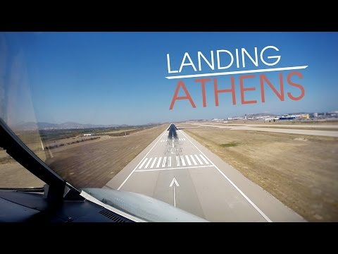 CockpitSeries: Airbus A320 Landing in Athens Airport