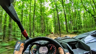 70 mph Forest Trail run in a Can Am Maverick X3 Turbo