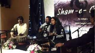 Sithara ghazal  concert- sham-e-gazal in dubai, india club.