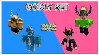 FIRST EVER 2V2 GODLY BET ON ROBLOX MMX! (INSANE)