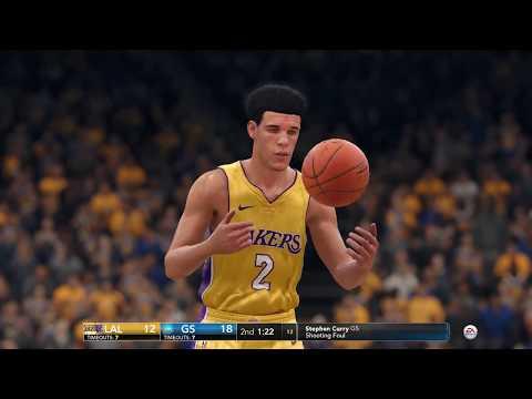 Lonzo Ball vs Steph Curry | Warriors vs Lakers - NBA Live 18 Gameplay