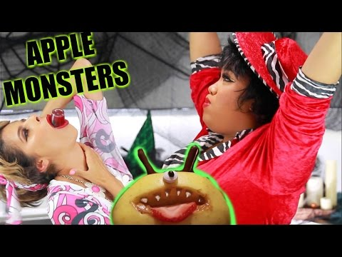 DIY HALLOWEEN TREATS | Apple Monsters