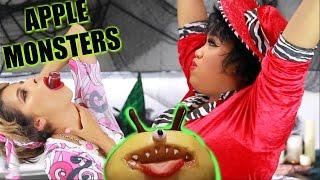DIY HALLOWEEN TREATS   Apple Monsters