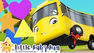 Learn The Shapes Song - Go Buster the Yellow Bus | Nursery Rhymes & Cartoons | LBB Kids