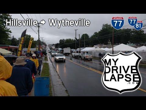 Hillsville Flea Market to Wytheville, Virginia