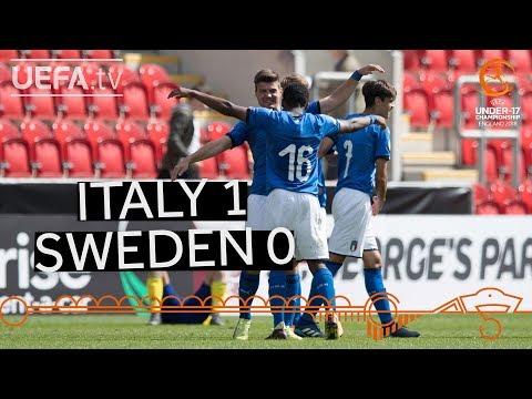 U17 highlights: Italy v Sweden