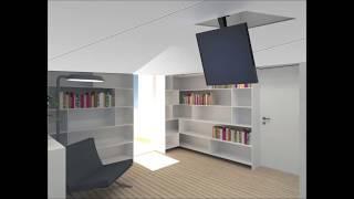 Tv ceiling flip down lift - Maior Flip 90 - product description (ENG SUB)