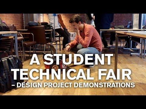 A student technical fair – Design Project demonstrations