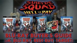 SUICIDE SQUAD HELL TO PAY 4K BLURAY UNBOXING 4K BLURAY TARGET BEST BUY BLURAY BUYERS GUIDE