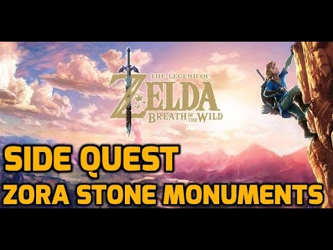 The Legend Of Zelda Breath Of The Wild Side Quest Zora Stone