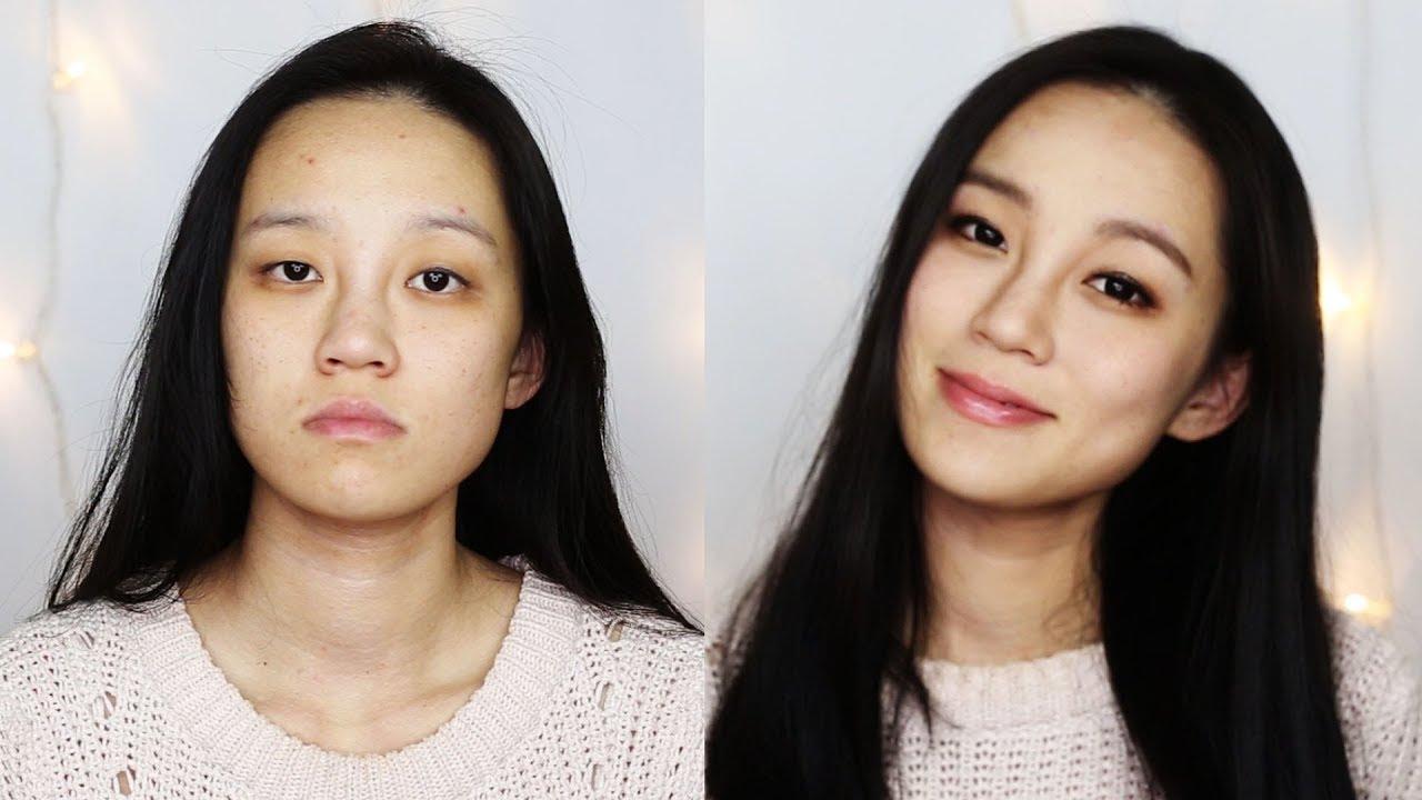 Asian Monolid Hooded Eye lid Natural makeup tutorial