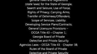 Georgia Private Security Agency license