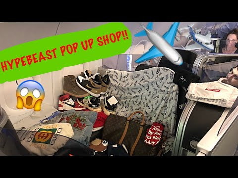 I BUILT A HYPEBEAST DREAM STORE ON THE FIRST CLASS AIRPLANE POD!!