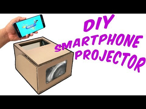 How to make a smartphone projector with cardboard | DIY | 5 tips for better results