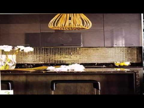 gold kitchen wall decor ideas مطبخ ذهبي واسود and black youtube