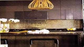 مطبخ ذهبي واسود Gold And Black Kitchen