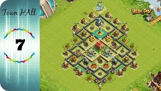 Hero Sky: Epic Guild Wars - Town Hall 7 defence base lay-out!