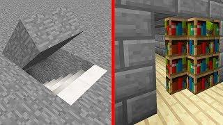Minecraft | Como construir 5 puertas Secretas Modernas (Escondites)