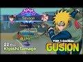 I Come for My Savage! Kiyoshi.Tamago Top 1 Global Gusion ~ Mobile Legends