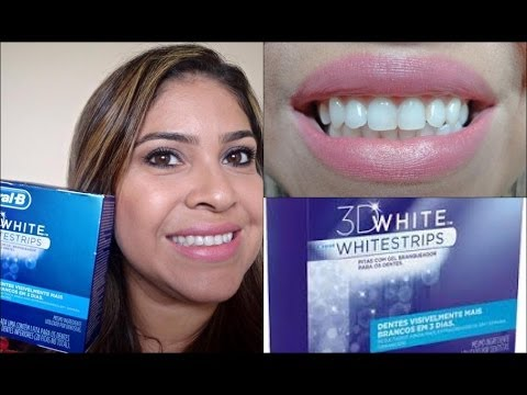 Clareamento Dental Com As Fitas Whitestrips Oral B Esclarecendo