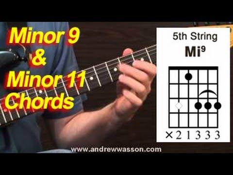 Minor 9 and Minor 11 Chord Shapes