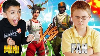 Trash Talker Fan Challenges My Little Brother To A Fortnite 1v1! Intense!
