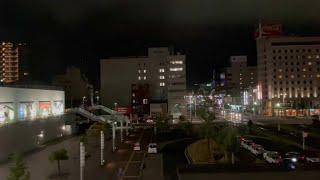 土讃線特急2700系高松から高知(夜)夜の高知駅