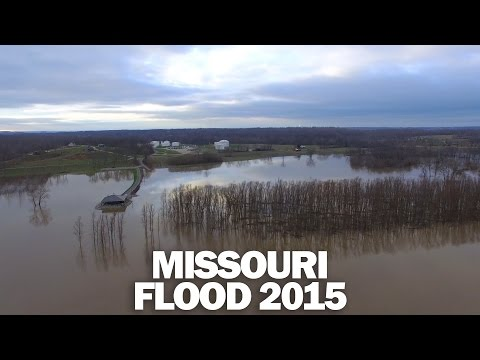 Missouri Flood 2015 Aerial 4K - 12/29 - Cape Girardeau Area Drone Video