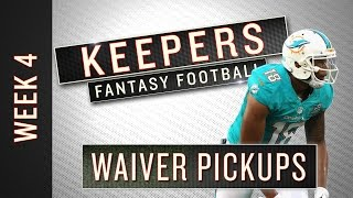 NFL Week 4 fantasy football waiver wire targets