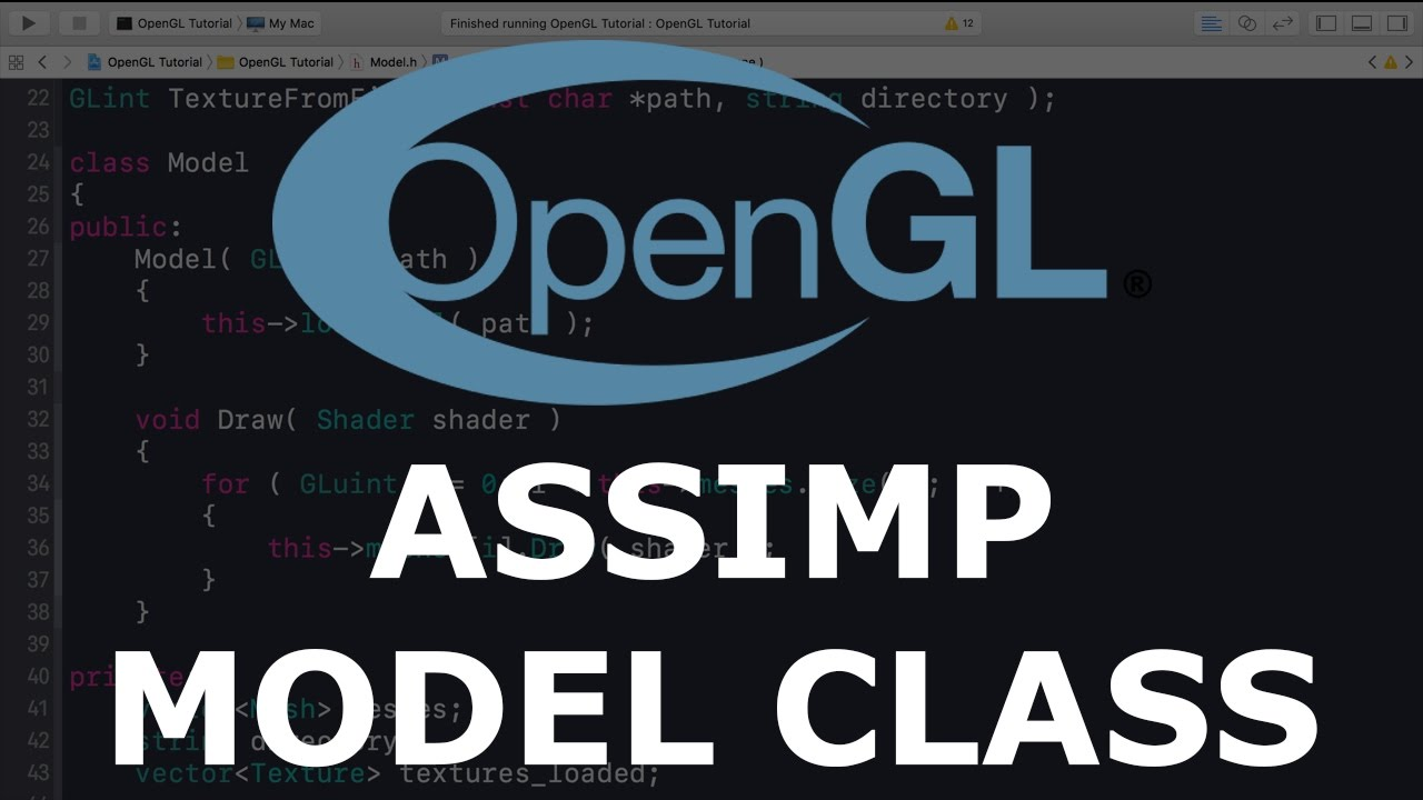 Modern OpenGL 3 0+ [MODEL LOADING] Tutorial 16 - Assimp Model Class and  Loading A Model
