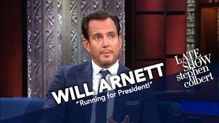 will arnett and stephen colbert running for president