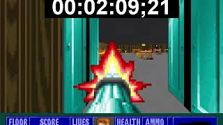 Wolfenstein 3D Escape from Castle Wolfenstein 2 speedrun 100% (Death Incarnate) in 3m 04sec.
