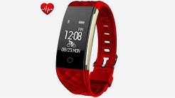 Fitness Tracker,Juboury Heart Rate Activity Tracker Touch Screen Wearable Pedometer Blu...