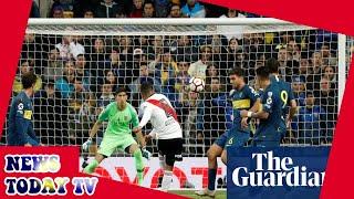 River Plate claim Copa Libertadores against 10-man Boca with Quintero goal