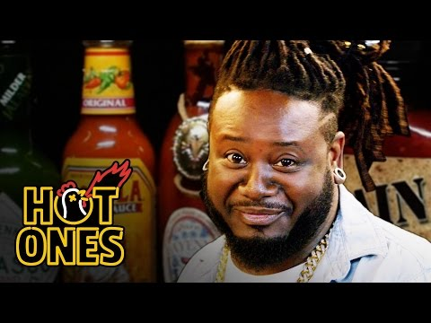T-Pain Has a Tongue Seizure Eating Spicy Wings | Hot Ones