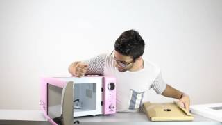Melissa   700 Watt Mikrowelle Classico in pink (Unboxing)   test.net