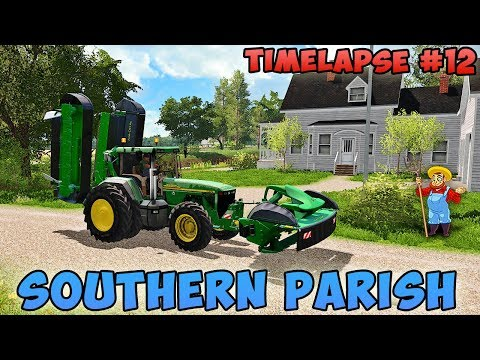 Farming simulator 17 | Southern Parish with Seasons | Timelapse #12 | Fertilize field, mowing grass thumbnail