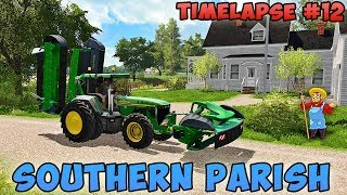 Farming simulator 17 | Southern Parish with Seasons | Timelapse #12 | Fertilize field, mowing grass