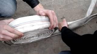 видео Перекатка пожарных рукавов на другое ребро