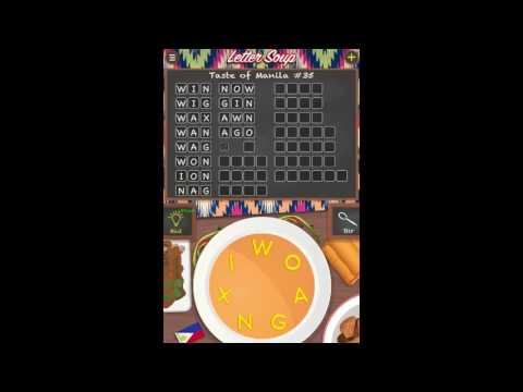 Letter Soup Cafe Taste of Manila Pack Level 35 Answers