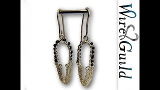 Beaded Chain Earrings A WIre Wrap Tutorial