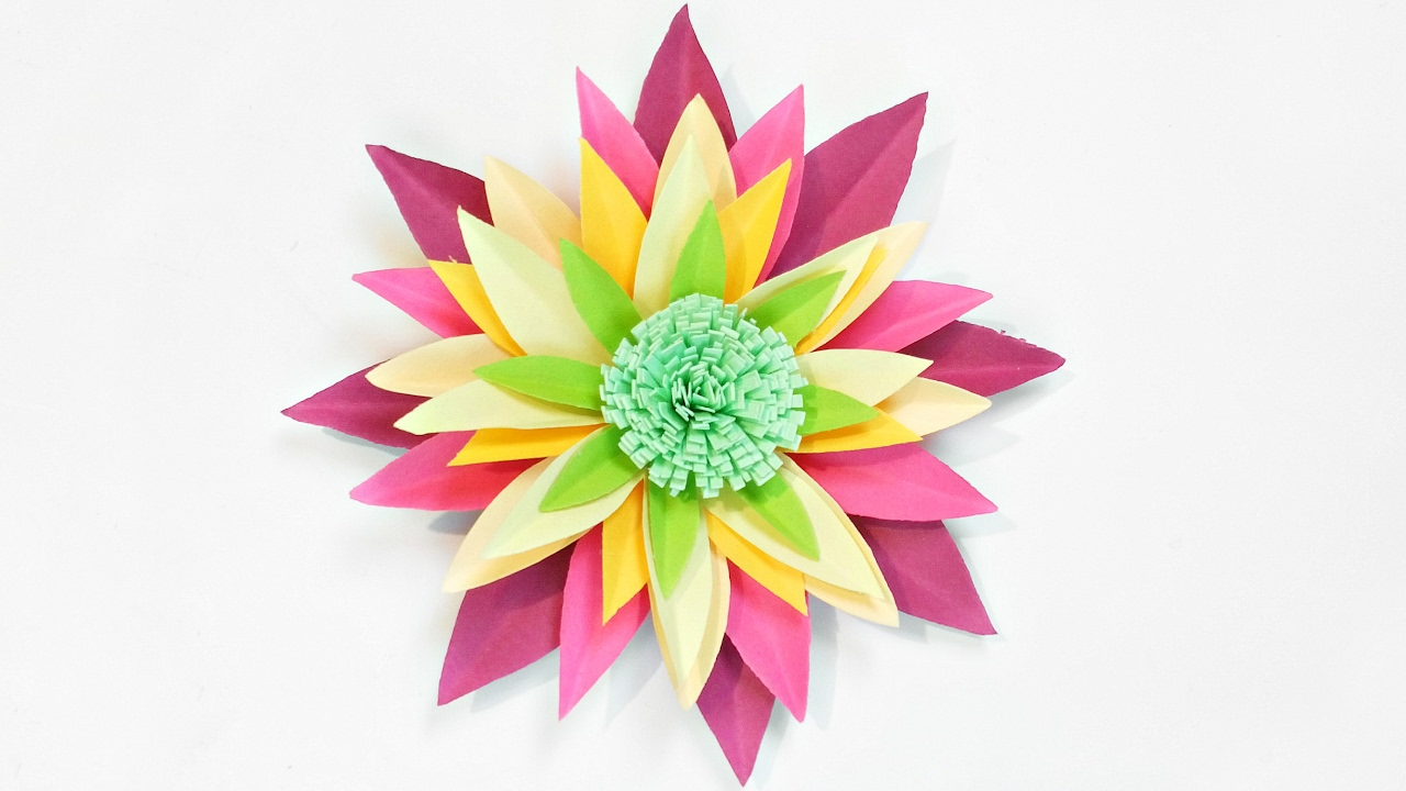 Dahlia Paper Flower Diy Making Tutorial Paper Flowers Decorations