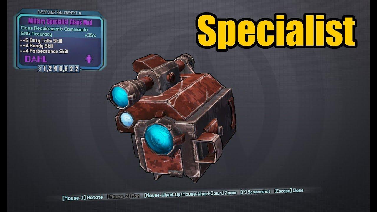 Borderlands 2: Axton's Specialist Class Mod