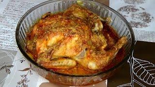 Запечённая курица. Рецепты из курицы. Запечь курицу целиком. Курица с картошкой