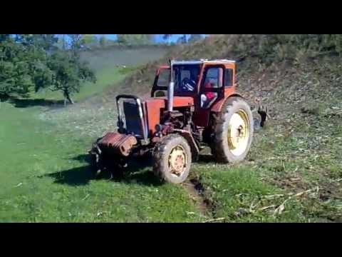 схождение колес на мине тракторе - YouTube