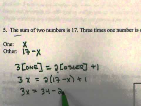 Sum of two numbers Word Problem