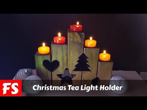 Christmas Tea Light Holders (FS Woodworking)