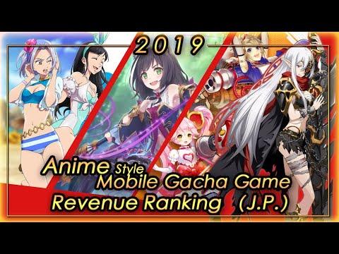 (J.P.) 2019 FULL YEAR Anime Gacha Mobile Game Revenue Tier List